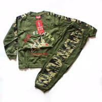 Setelan Baju Kaos Army Panjang Anak Laki 0-9th Jet Tempur Tank Tempur