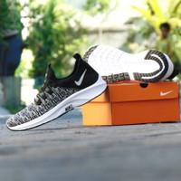 Sepatu Sneakers Nike Air Free Slip On Slop Hitam Abu Casual Santai
