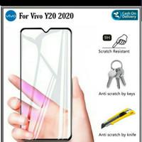 Tempered Glass Vivo Y20 Y20i Y20S Cover Full Lem 9D 11D Full Screen