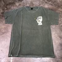 BRAIN DEAD Graffiti Letter T-Shirt Forest Green Original