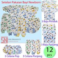 12 pcs baju bayi newbron mix motif
