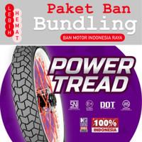 Paket Ban Motor MIZZLE Power Tread 225 17 dan 250 17 ( Tubetype )