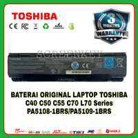 Baterai Original Laptop Toshiba Satellite PA5109-1BRS C40 C50 C70 L70