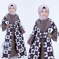 fashion anak perempuan gamis batik anak baju muslim anak