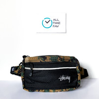 Tas Stussy Waist Bag Waistbag Hip Pack Fanny Pack Digi Camo Original