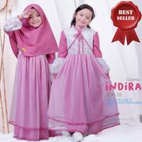 Gamis Anak Usia 7-9 Tahun Baju Muslim Anak Perempuan INDIRA KIDS SYARI