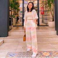 SETELAN TIE DYE SET - fashion wanita / ootd / hangout / baju viral