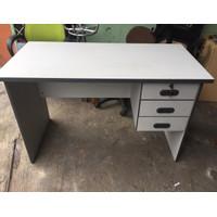 Meja kantor / meja kerja laci 3 ukuran 120x60cm, T: 74-75cm Murah