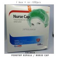 ONEMED NURSE CAP Penutup Kepala Hair Cover Rambut Medis One Med APD