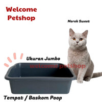 BAK KOTAK BASKOM PASIR KUCING / TEMPAT PUP POOP KUCING - Cat Litter L