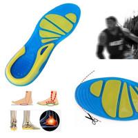 Alas kaki sol arch plantar sepatu shock absorb gel orthopedic insole
