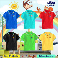 kaos kerah wangki polo shirt anak - size 10