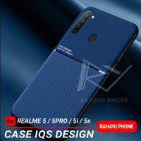 Softcase REALME 5 5 PRO 5i 5s Case IQS DESIGN - Hitam, REALME 5s