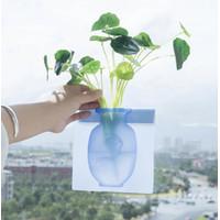 VAS BUNGA Unik vas bunga tempel Vas bunga ajaib silicone