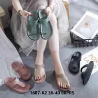 Jelly Sandal Premium Simple Flat - Sepatu sandal karet Import murah