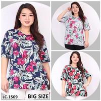 Kaos Oblong Wanita Baju Murah Atasan Motif Bunga Bunga Melar LC1509BIG