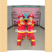 Baju Seragam Anak Profesi Pemadam Kebakaran Damkar