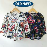 Kaos / Atasan /Baju Lengan Panjang Anak Perempuan Old Navy Motif Bunga
