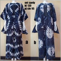 Set Cardy Shibori Jumbo Setelan Baju Celana Batik Handmade Baju Pergi