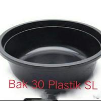 Bak / Baskom / Ember Bulat Jumbo 30 Hitam Plastik SL (GOJEK/GRAB)