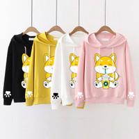 sweater cat hoodie kucing outer luaran baju wanita hoody anak remaja