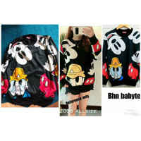Mickey and friend sweater I sweater cewek   mickey mouse