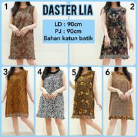 Daster Batik Yukensi Baju Tidur Daster Katun Mini Tanpa Lengan LIA3