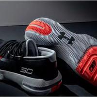 Sepatu basket under armour SC 3zero III black preto
