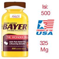 Bayer Aspirin 325 Mg - isi: 500 - USA Orogin