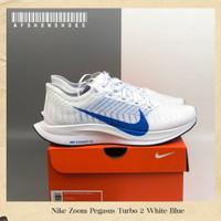 Sepatu Original Nike Zoom Pegasus Turbo 2 White Blue BNIB