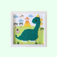 Button Art Dino – Busy Box Aktivitas Craft DIY Anak Wall Art