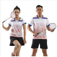 Setelan Kaos T-Shirt+Celana Pendek Pria/Wanita Untuk Badminton/Lari/La