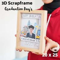 Kado Wisuda Scrapframe 3D Pigura Foto Custom