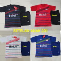 Setelan Baju Badminton Size Anak SD Kaos Bulutangkis Kids Junior 201