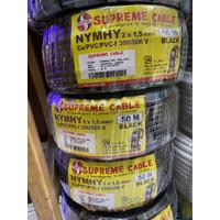 Kabel NYMHY atau NYYHY 2x1.5 mm Hitam Serabut Supreme 50mtr