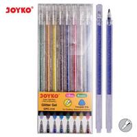 Color Gel Pen Pena Jel Warna Joyko GPC-318 Glitter Gel 8 Warna 1.0 mm