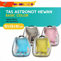 Tas Astronot Transparant Anjing Kucing Pet Backpack Pet Carrier Polos