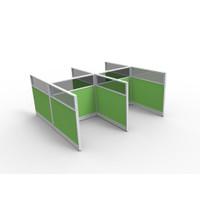 Sekat meja partisi kantor 4 meja rangka aluminium 5cm T.120