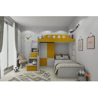 Paket Tempat Tidur Tingkat Anak Bunkbed Si Periang Bersemangat - BPD