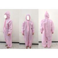 Pakaian Hazmat Suit Coverall Baju APD Antivirus Spunbound Baby Pink