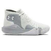 Sepatu Olahraga Basket Under Armour Spawn Mid White Original Shoes