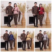 Batik couple batik keluarga Couple pesta Baju formal Baju Wanita pria