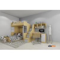 Paket Tempat Tidur Tingkat Anak Bunkbed Si Kalem Kreatif - BPE