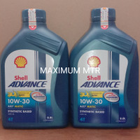 OLI SHELL ADVANCE AX7 MATIC(0,8L)/10W-30/ACTIVE CLEANSING TECHNOLOGY