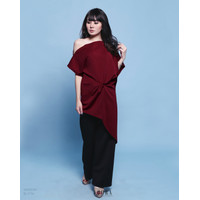 [Yoorafashion]SALE! Xavia Shorter One Shoulder Top Blouse Atasan Wanit