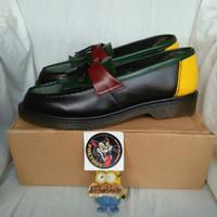 sepatu boots dr martens adrian tassel loafers black red mods docmart