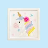 Button Art Unicorn, Busy Box Aktivitas Craft DIY Anak Wall Art