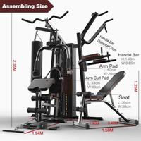Alat Fitness Home gym 3 sisi Multi Station,sandsack dan bangku bench