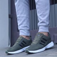 Adidas Neo Zoom Import / Green White / Sepatu Pria Running Fitness