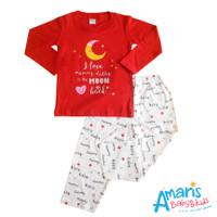 Amaris Piyama Anak 1 - 3 Tahun Motif Mummy Daddy